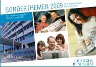 sonderthemen 2009 - Lausitzer Rundschau