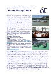 Cykla och kryssa på Donau - Queen Travel