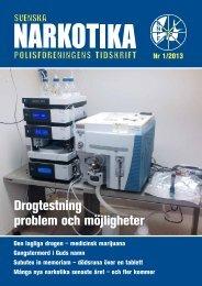 SNPF 1 2013 - Svenska Narkotikapolisföreningen