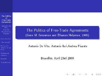 The Politics of Free-Trade Agreements - (Gene M ... - Ecares