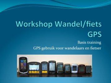 Basis training GPS gebruik voor wandelaars en ... - FromZero2Hero