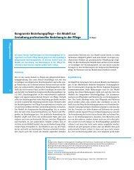 Kongruente Beziehungspflege – Ein Modell zur ... - Ibi-institut.com