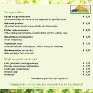à la carte menu - Schatberg