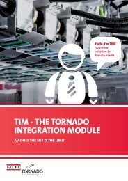 TIM - THE TORNADO INTEGRATION MODULE - BDT