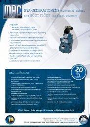NYA GENERATIONENS 3/2 ventiler - snabba med ... - MAC Valves