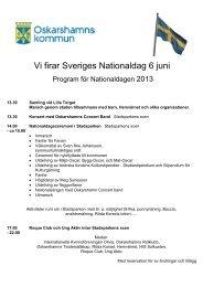 Program för Nationaldagen - Oskarshamn