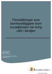 Föreställningar som barnhandläggare inom socialtjänsten har kring ...