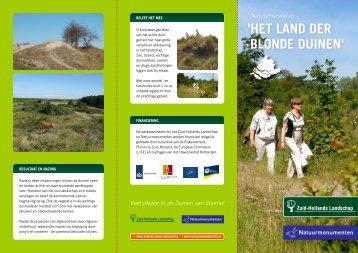 'het land der Blonde duinen' - Het Zuid-Hollands Landschap