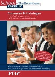 Cursussen & trainingen - Schoolzakelijk