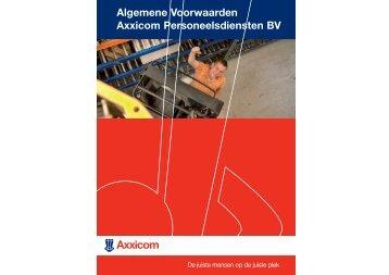 Algemene Voorwaarden Axxicom Personeelsdiensten - Facilicom