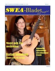 SWEA-Bladet maj 2011 - SWEA International
