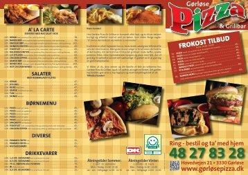 Gørløse Pizza & Grilbar fået nye menukort, du kan midlertidigt ...