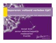 plenair 2 Spreker - Dr. Annet Smit ' Separeren: voltooid verleden tijd? '