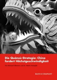 Die Quánsù-Strategie: China fordert ... - Bain & Company