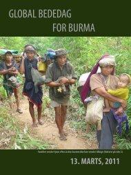 GLOBAL BEDEDAG FOR BURMA