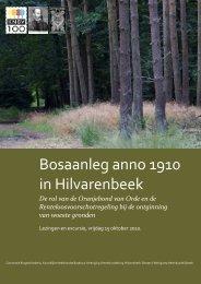 Excursiegids Bosaanleg anno 1900 in Hilvarenbeek - Koninklijke ...