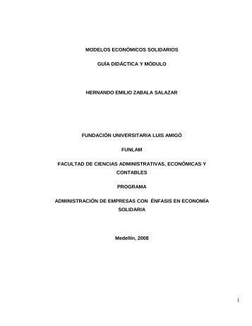modelos económicos solidarios guía didáctica - Fundación ...