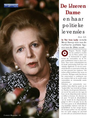 De IJzeren Dame en haar politieke levensles - De Centrale