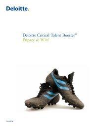 Deloitte Critical Talent Booster© Engage & Win! - Binnenlands Bestuur