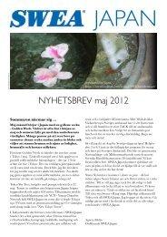 NYHETSBREV maj 2012