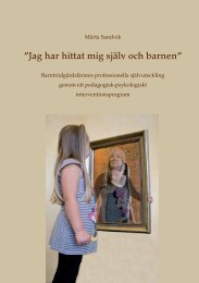 7 Det pedagogisk-psykologiska interventionsprogrammet - Doria