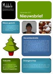 Nieuwsbrief 2 - december 2011 - Middels Opvang