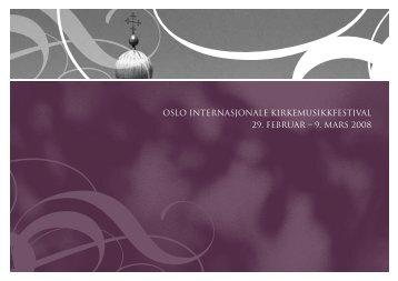 Program 2008 - Oslo Internasjonale kirkemusikkfestival