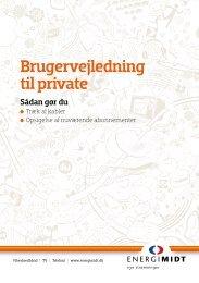 Brugervejledning til private - EnergiMidt