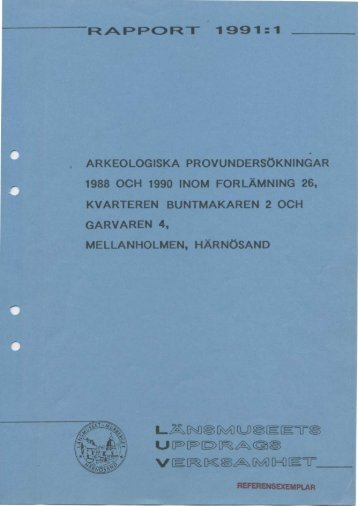 RAPPORT ' 1991 :1 - Murberget CollectiveAccess System