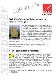 Nyhedsbrev fra - Brd. Klee A/S