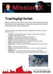 Vejledning til tværfagligt forløb med Mission X - Tycho Brahe ...