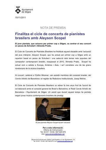 Finalitza el cicle de concerts de pianistes brasilers amb Aleyson ...