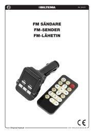 FM sändare FM-sender FM-lähetin - Biltema