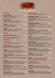 klikken voor het menukaart - Amier Restaurant