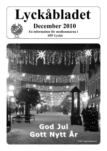 December 2010 God Jul Gott Nytt År