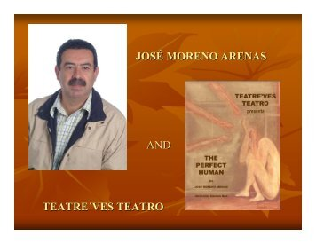 josé moreno arenas and teatre´ves teatro - Dallas International Book ...