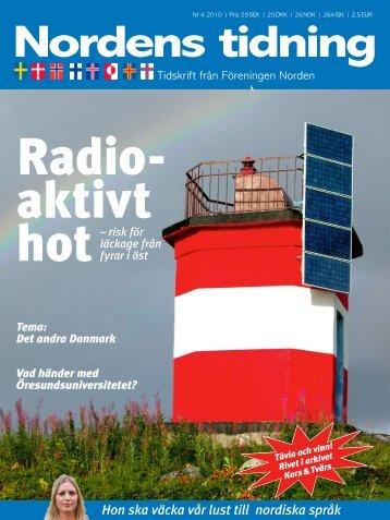 Nordens Tidning nr 4 2010 - Föreningen Norden