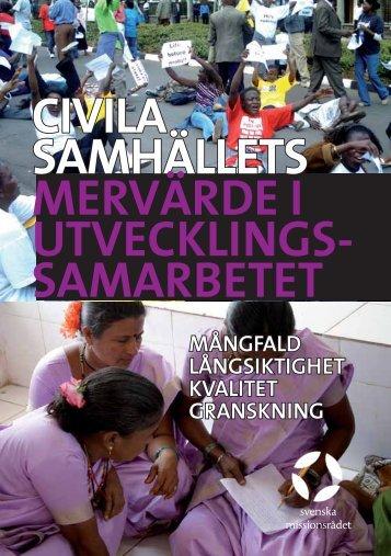 Det civila samhällets roll i utvecklingen - Svenska missionsrådet