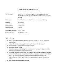 Sommereksamen 2013 - School of Medicine and Health