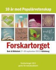 10 år med populärvetenskap - Forskartorget