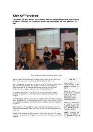 Kick Off foredrag - Mou Skole
