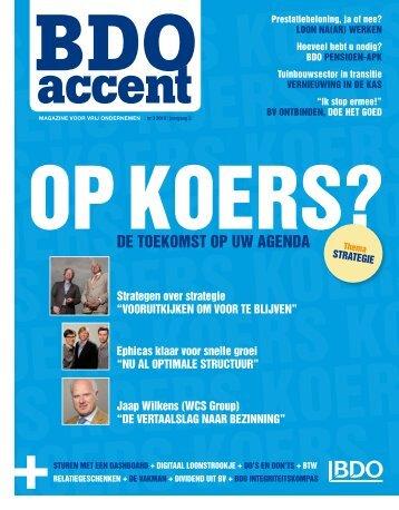 artikel in BDO Accent-magazine voor vrije ... - Delft Students