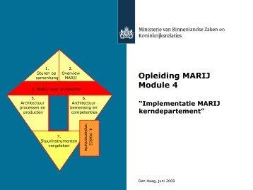 Implementatie MARIJ (kern)departement - E-overheid