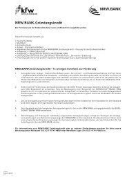 NRW.BANK Gründungskredit Formularsatz EKN - Bürgschaftsbank ...