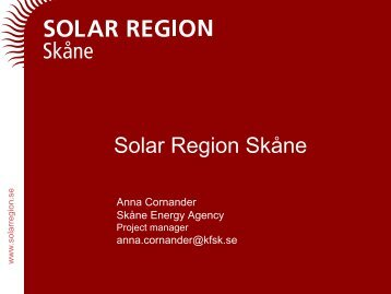 Solar Energy Roadshow 2010 - Cursor