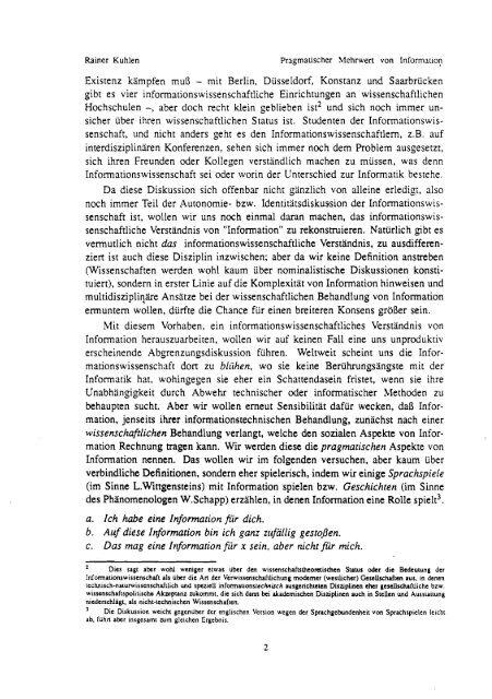 Vorwort - Prof. Dr. Rainer Kuhlen