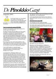 augustus 2007 - Stichting Kinderopvang Pinokkio Maastricht