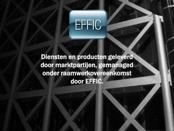 Diensten en producten geleverd door marktpartijen ... - EFFIC