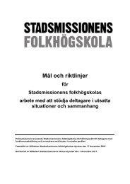 Policydokument skolans förhållningssätt till deltagare - Stockholms ...