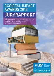 JURYRAPPORT - Vrije Universiteit Amsterdam